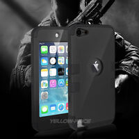 Unique Hybrid Silicon Hard Case Cover for iPod Touch 5 6th Generation - Black