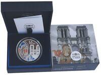 Frankreich 10 Euro Silber Notre Dame Paris Gotik - Farbe Color 2020