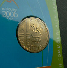2006 $1 Melbourne Commonwealth Games M Mintmark uncirculated mint mark 1 dollar