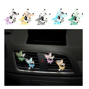 Car Outlet Air Conditioning Freshener Cute Butterfly Perfume Clip Decora-_cd