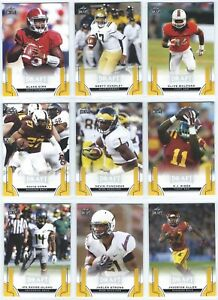 2015 Leaf Draft Football Gold Parallel You Pick the Card, Finish Your Set
