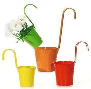 Hängetöpfe 4er Set Blumentopf Ø 11cm in verschiedenen Farben Übertopf