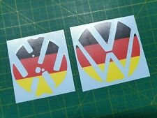 VW Golf R GTI GTD MK7 Badge front rear underlay Stickers Decals any colours X4!