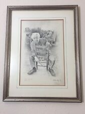 Thomas Hart Benton lithograph Portrait By Al Kennedy 1975 Signed 48/200 Painting