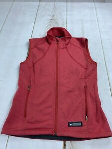 REI Polartec Womens Size XS Sleeveless Zip Up Stand Up Collar Vest Jacket Red