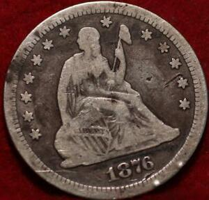1876-CC Carson City Mint Silver Seated Liberty Quarter