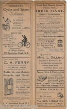 Essex Road Library bookmark vintage adverts radio cycle