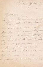 Médecin intéressante et amusante Lettre autographe signée de Paul Lorain 1875