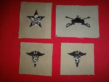 4 US Army Patches: GENERAL STAFF + ARMOR + MEDICAL SPECIALIST + MEDICAL SERVICE