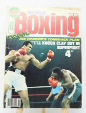 World Boxing Magazines November 1977 Muhammad Ali Joe Frazier Cover