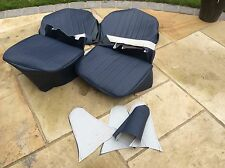 AUSTIN HEALEY FROGEYE SPRITE SEAT COVERS  bugeye Navy Blue/ Navy Blue Piping