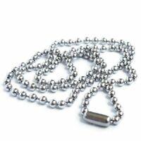 Rostfrei Edelstahl Perle Metallperlen Halskette Kette Y9A4 D8Y1
