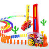 Domino Rally Train Toy Set 60pcs Colorful Plastic Dominoes Toys Educational Toy
