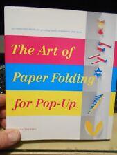 The Art of Paper Folding for Pop-Up by Miyuki Yoshida (2008, Hardcover) Like New