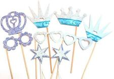 Photo Booth Props -Frozen Blue Princess Party Photo Booth Props x 9PC
