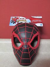 Ultimate Spideman Web Warriors Mask New Sealed Comics Figure Black & Red RARE