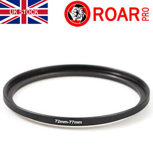 72-77mm Stepping Step-Up Ring Filter Adaptor 72mm to 77mm