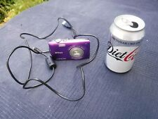 Purple Nikon Coolpix S3300 - Working With USB Cable - See Photographs