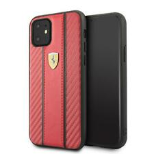 Ferrari Hard Case iPhone 11 Carbon PU Red 360 degree PROTECTION