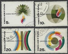 Papua New Guinea 1968 HUMAN RIGHTS Set(4) Very Fine Used SG 133-6