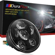 DuraFlux 5.75 5 3/4 Motorcycle CREE LED Headlight Lamp Hi/Low Beam White DOT SAE