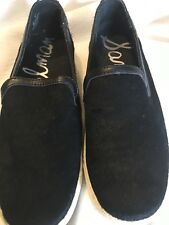 Black Sam Edelman real fur sneakers size 6 New never worn