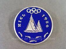 112586, Abzeichen für Teilnehmer an der Olympiade Kiel 1936, emaillierte Brosche