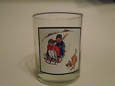 Arby's Pepsi Norman Rockwell Winter 2 of 4 ' Downhill Daring ' Glass