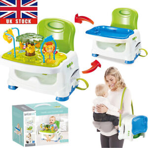 Travel Feeding Booster Seat Toddler Highchair Portable Activity High Chair +Tray