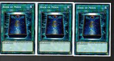 Yugioh - Playset of 3x YS17-EN025 Book Of Moon - 1st EDITION NEW