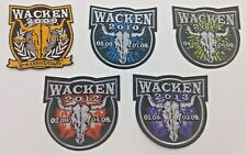 ++ 5x ORIGINAL WACKEN OPEN AIR PATCH AUFNÄHER: 2009 2010 2011 2012 2013 + NEU! +