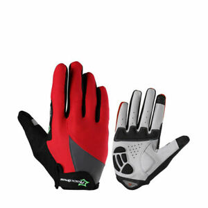 ROCKBROS Bicycle Full Finger Cycling Gloves Touch Screen Riding MTB Bike Gloves