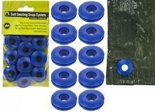 10x Plastic Snap Eyelets Grommet Self Sealing Groundsheet Tarpaulin Awning Cover