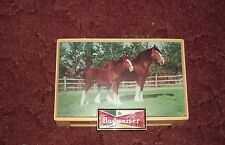 1950's lighted Budweiser light with Clydesdales