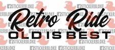 RETRO RIDE STICKER DECAL FORD MINI CLASSIC COOPER S 950 MAYFAIR CLUBMAN 1275 GT