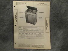Sams Photofact Folder #19 Set #51 Silvertone Model 8100 (Ch 101.829) Phono Radio