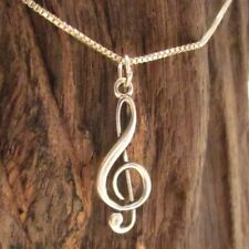 Music/Musical Note .925 Silver Pendant/Charm