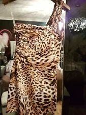 LIPSY Size 12  lepoard animal print off shouler cross over bnwt