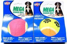 2 Spot Mega Tennis Ball Dog Toys Multicolor Twice as Big Twice the Fun