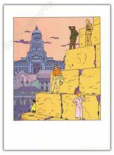 Affiche BD TED BENOIT Rocco Blake et Mortimer HC ex signé 50x70 cm