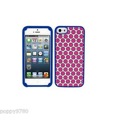 New Juicy Couture Polka Dot Silicone Case For iPhone 5 / 5S, Pink / White / Blue