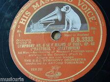 "78rpm 5x12"" BEETHOVEN - TOSCANINI symphony 6 complete DB3333 - 3337"