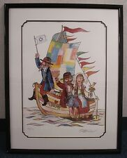 Jovan Obican Art Print Voyage Of Love Listed b 1918 - 1986 Pencil Signed 01912