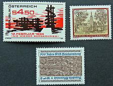 AUTRICHE timbre - Yvert et Tellier n°1595 à 1597 n** stamp Austria (cyn5)