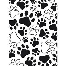 Darice Embossing Folder ~ PAW  PRINT ~ Background A2  Dog Cat Bear Pet 1218-03