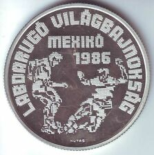 1986 Hungary Large Proof Silver-500 F World Cup Soccer- 2 Players