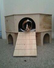 2 Storey angolo Play tunnel / UN RIPARO per Porcellini d'India / conigli piccoli