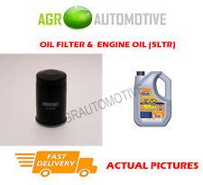 PETROL OIL FILTER + LL 5W30 ENGINE OIL FOR MITSUBISHI LANCER 1.6 98BHP 2003-08