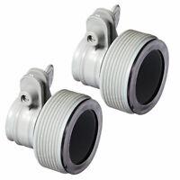 Intex Adapter B w/collar for Filter Pump & Saltwater Above Ground Swim Pool 2 pk