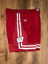 Men's Under Armour red Xl Wisconsin Badgers athletic lounge shorts
